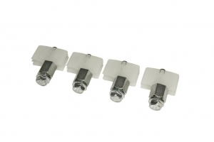 DOOR PANEL GUIDE SHOE  X4 PACK- SHORT 17MM BOLT (Glass) - Click for more info